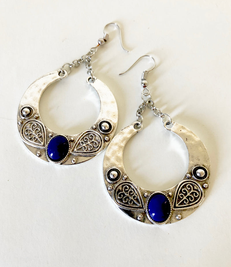 Boho Blue Stone Earrings
