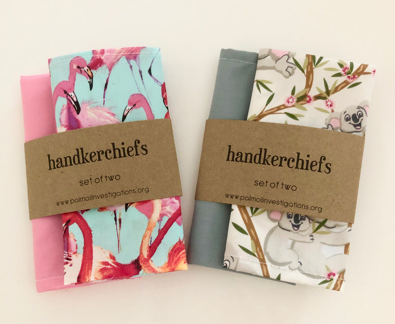 Handkerchiefs - Set of 2 - Koalas OR Flamingos