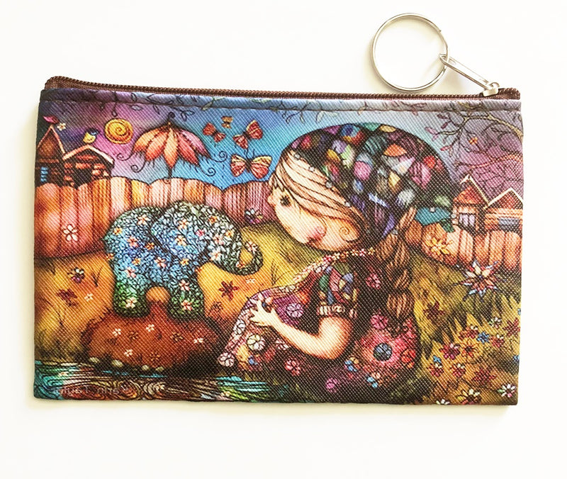 Elephant Coin Purse - With girl