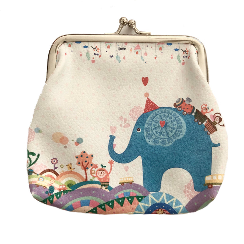 Coin Purse with clasp - Jungle Party