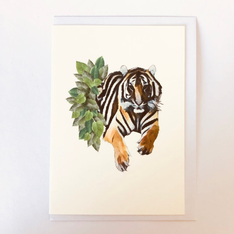 Sumatran Tiger Blank Greeting Card