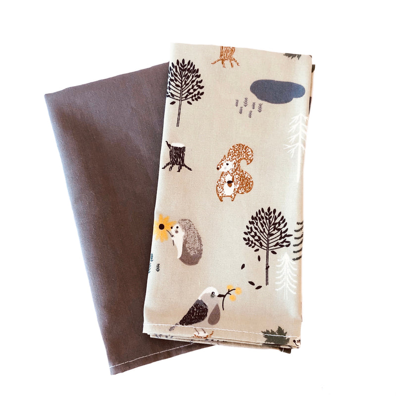 Men's Hankies - Forest friends