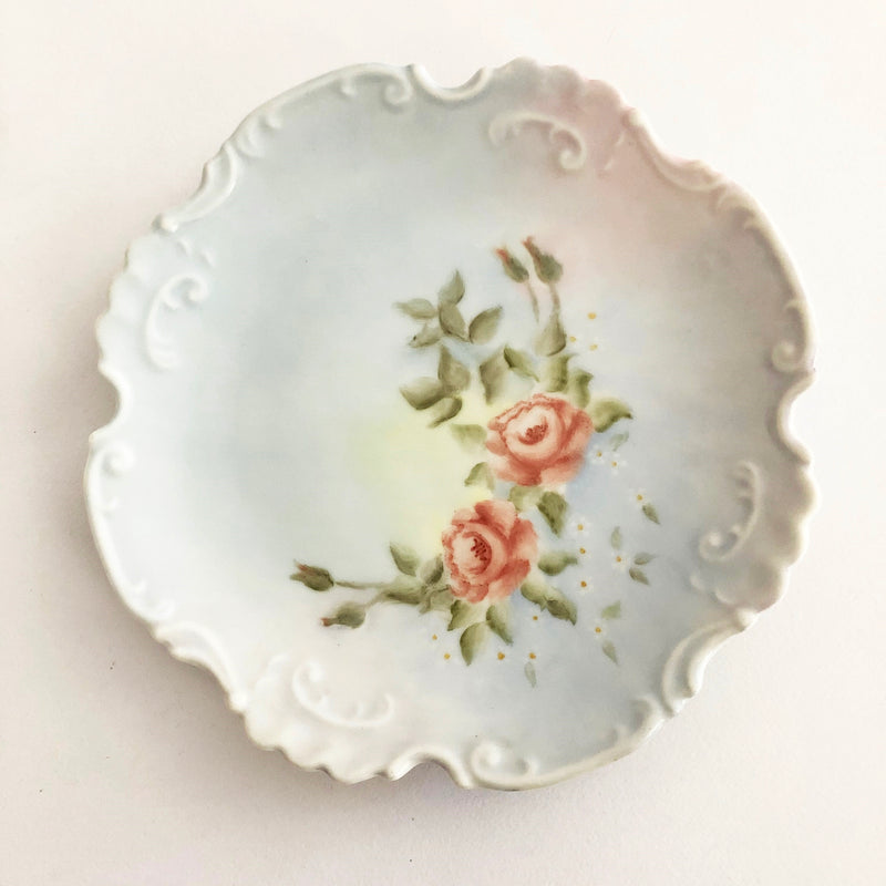Hand painted china plate - Roses