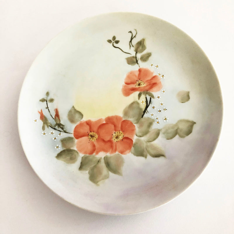Hand painted china plate - Blossom