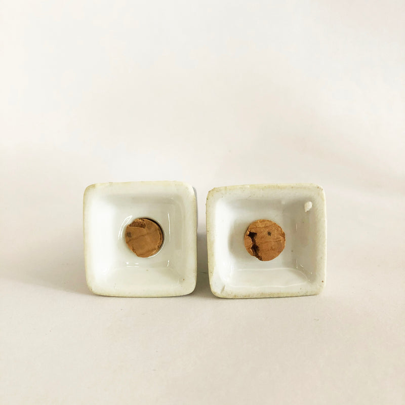 Vintage ceramic salt and pepper set