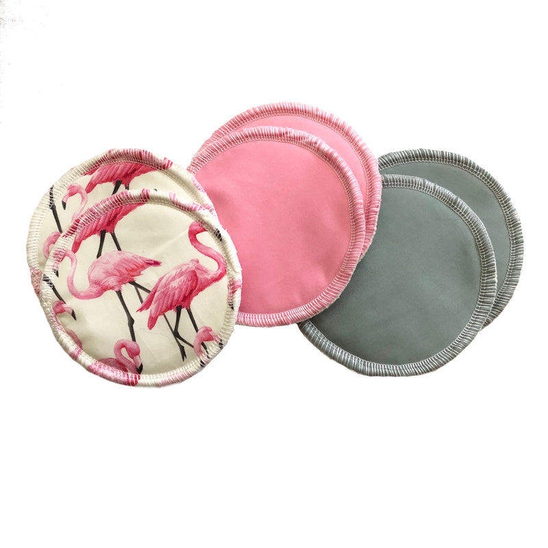 Nursing pads - 3 sets (6 pads) - Flamingo