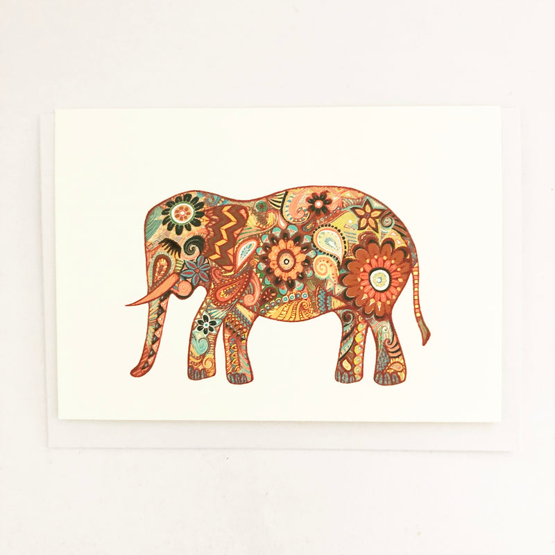Sumatran Elephant Blank Greeting Card