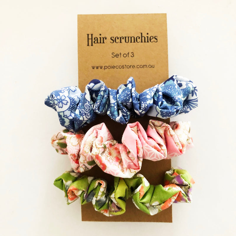 Scrunchies set of 3 - Oriental Blossom