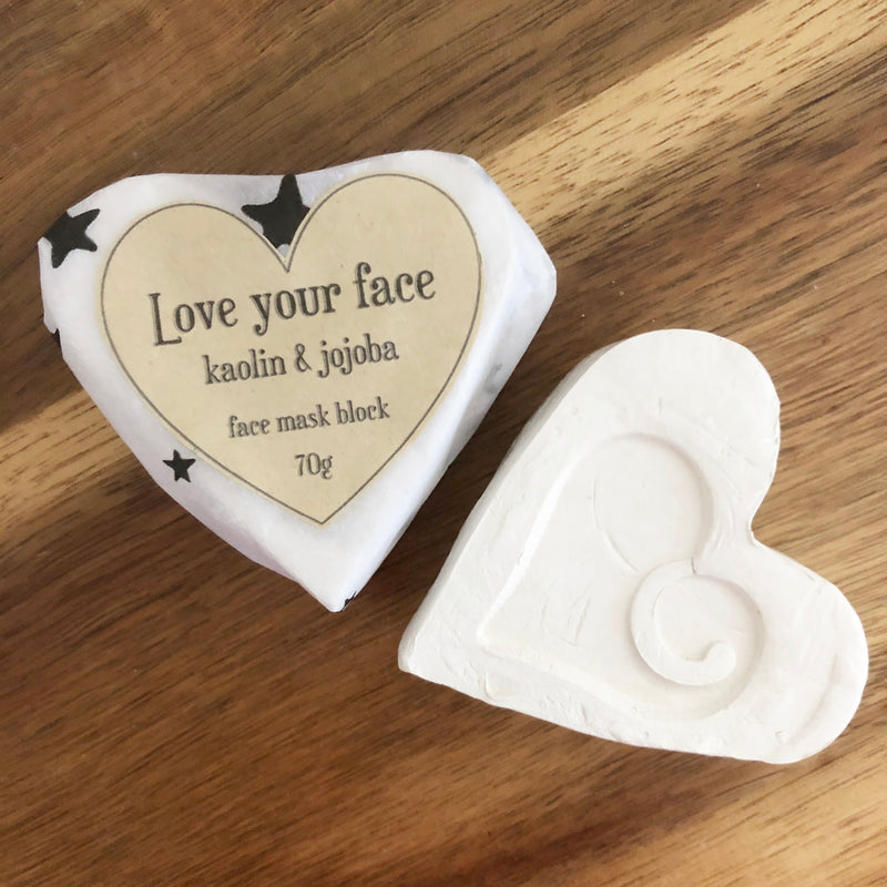 Love your face - Kaolin Clay face mask block with Jojoba oil 70g