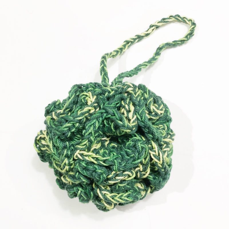 Shower Pouf - Plastic free - Green