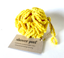 Shower Pouf - Plastic free - Yellow