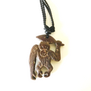 Hand Carved Sumatran Orangutan Necklace - Style B