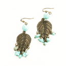 Turquoise Howlite Leaf earrings