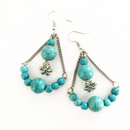 Turquoise Howlite Daisy Chain earrings