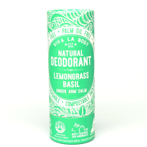 Natural Deodorant Lemongrass & Basil 80g