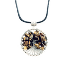 Tigers Eye Tree of Life Necklace on cotton cord