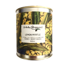 Lemon Myrtle Hand & Body Wash 500ml tin - dip and wash