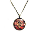 Tree Of Life Cabochon Necklace