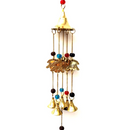 Brass Elephants wind chime with 5 bells