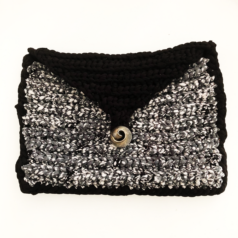 One of a kind Handmade Clutch bag - Black