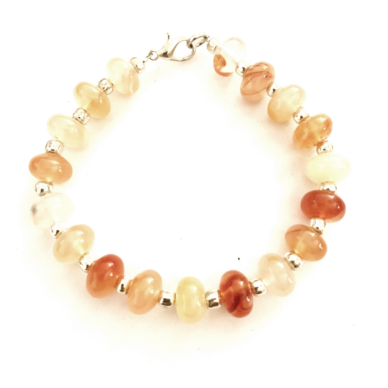 Polished Citrine Quartz bracelet