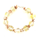 Glass and Shell chip bracelet