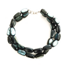 Blue shell double strand bracelet