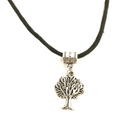 Tree Necklace on cotton cord
