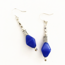Blue Diamond Glass drop earrings