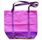 Lilac fully lined shopping tote