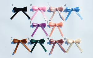 loopbow ribbon initial charm
