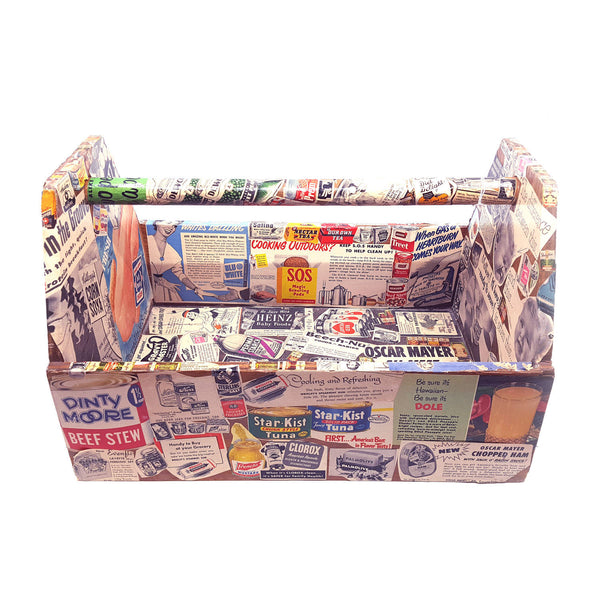 Decoupage Advertising Toolbox Caddy