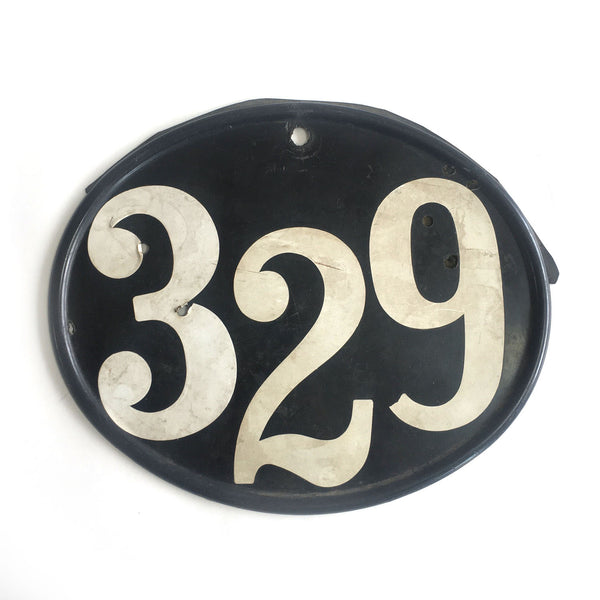 1970's Motocross Number Plate