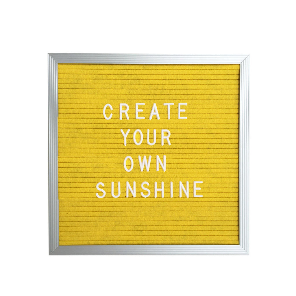 "10"" x 10"" LETTER BOARD - SUNSHINE YELLOW"