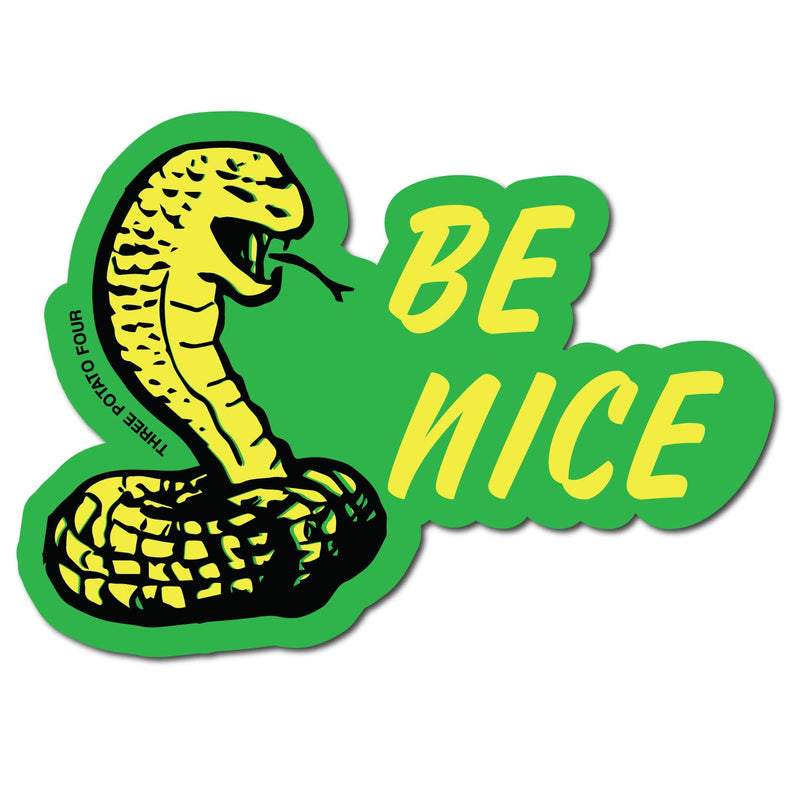 Sticker - Be Nice (Cobra)