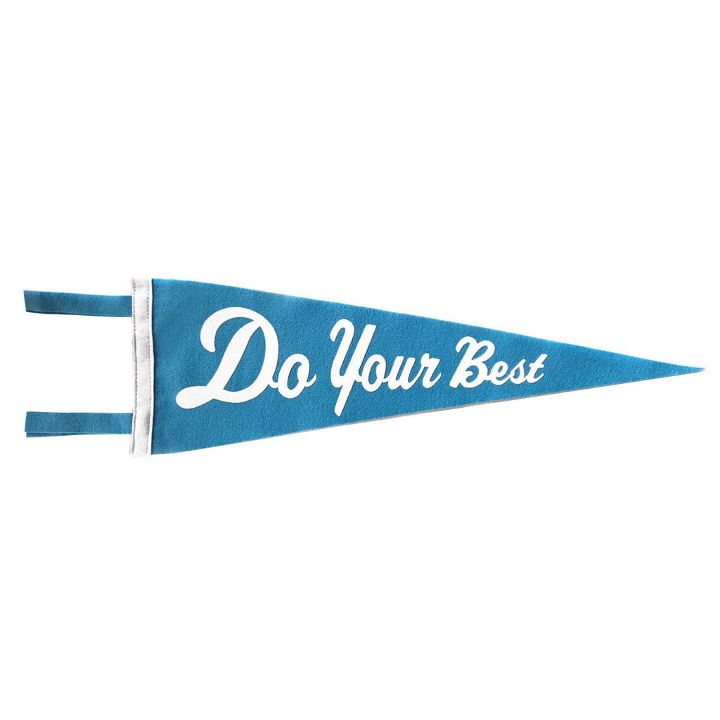 DO YOUR BEST PENNANT - BLUE