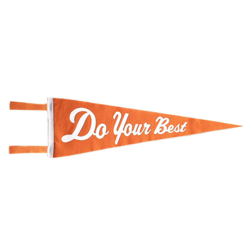 DO YOUR BEST PENNANT - ORANGE