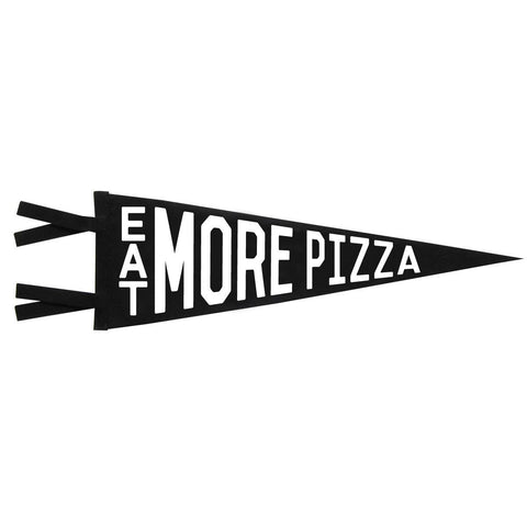 Vintage Style Felt Pennant Banner Flag Eat More Pizza