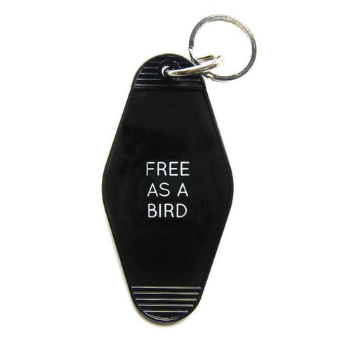 FREE AS A BIRD KEY TAG - Black