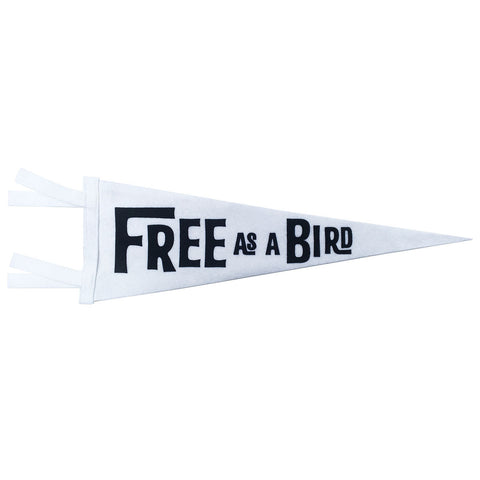 FREE AS A BIRD PENNANT (WHITE)