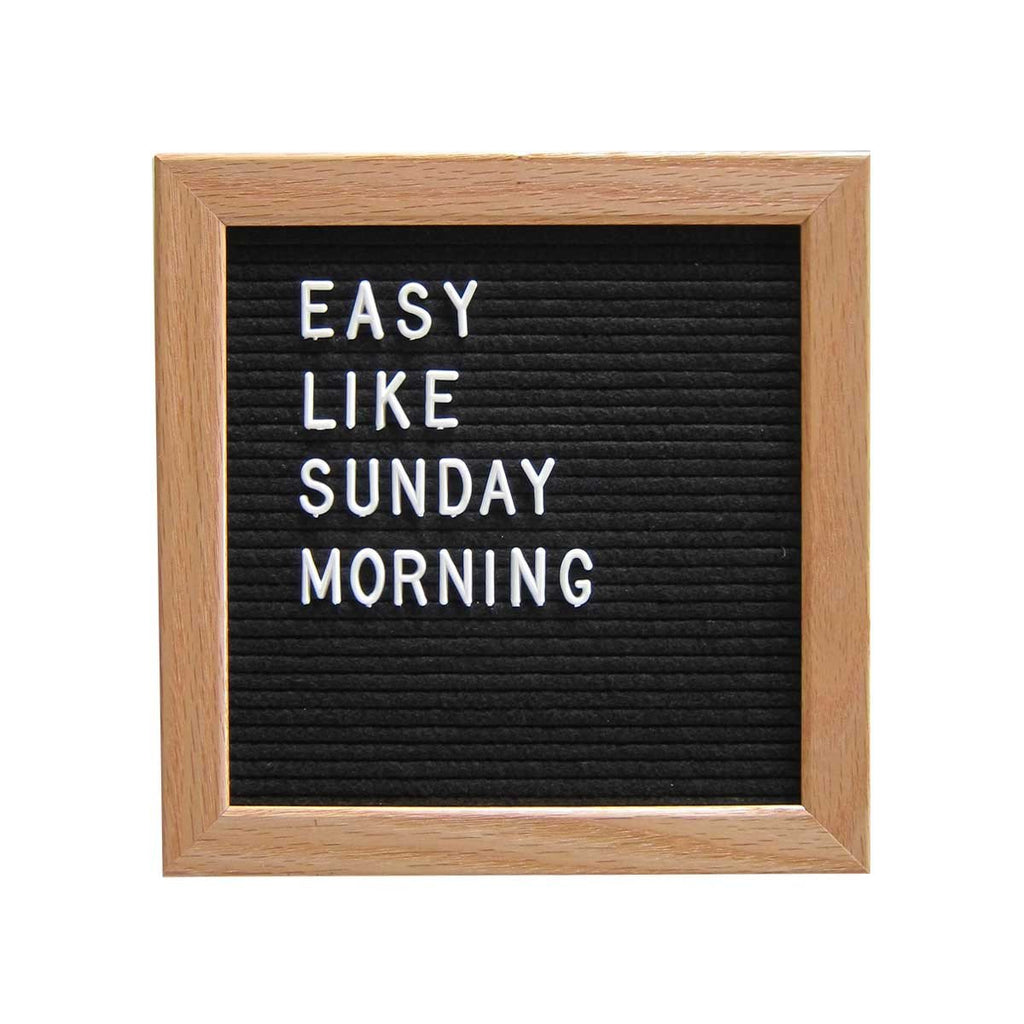 "10"" x 10"" WOOD FRAME LETTER BOARD - BLACK"