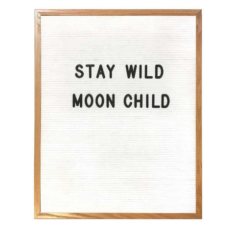 "24"" x 30"" WOOD FRAME LETTER BOARD - WHITE"
