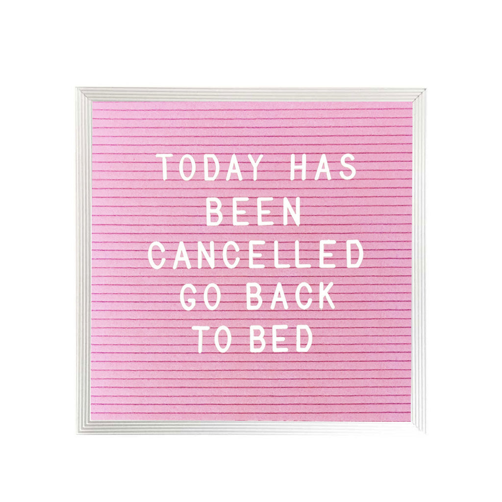 "10"" x 10"" LETTER BOARD - PINK"