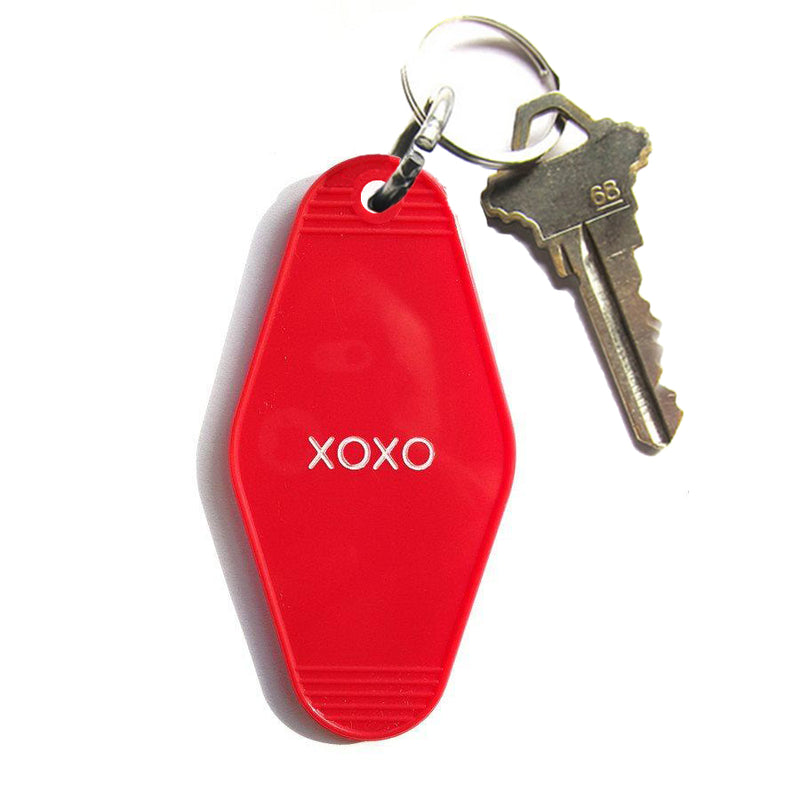Red key tag for valentines day from three potato four