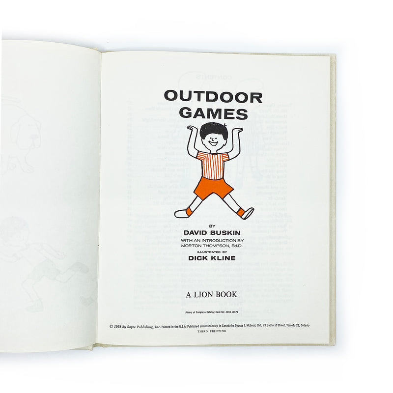 Vintage Outdoor Games Book