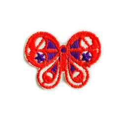 Vintage 70's Butterfly Embroidered Patch - Red/Purple