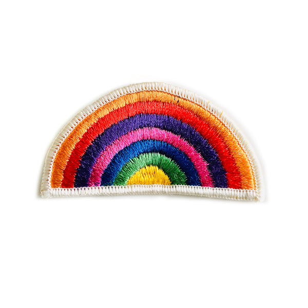 Vintage 70's Embroidered Rainbow Patch