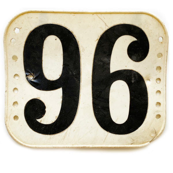 "1980's Motocross / BMX Number Plate ""96"""