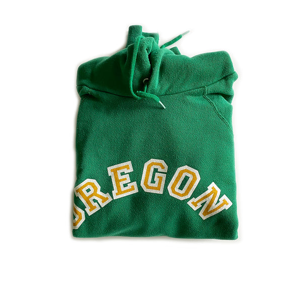 Vintage Oregon Hoodie Sweatshirt - Kelly Green