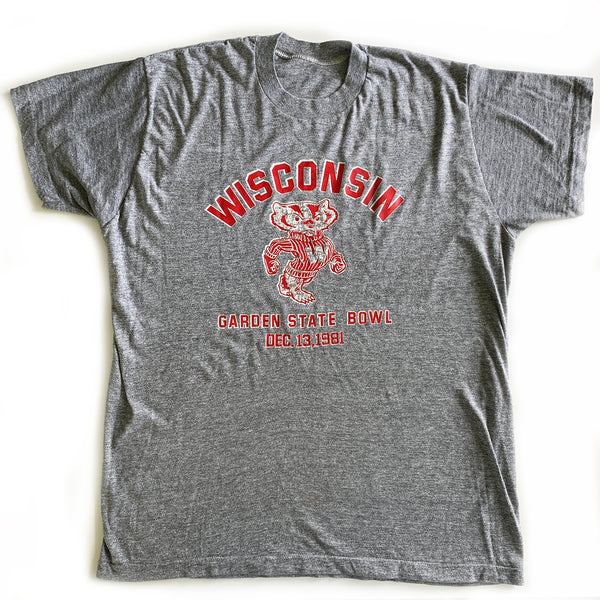 Vintage Wisconsin Badgers Heather T-Shirt